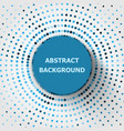 abstract background with circles halftone vector image
