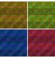 Abstract seamless plaid set vector image vector image