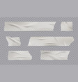 adhesive tape realistic sticky wrinkled paper vector image vector image