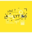 Analytics and statistics vector image