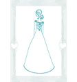 Beautiful bride - doodle vector image