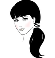 Beautiful Cute Girl Face vector image vector image