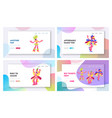 brazilian carnival samba dancers website landing vector image