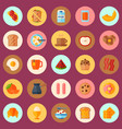 breakfast concept seamless pattern vector image vector image