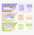 bundle of horizontal banner templates with stylish vector image