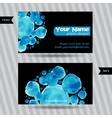 Business cards with round watercolor blots vector image vector image
