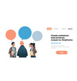 business people chat bubble communication concept vector image vector image
