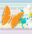 butterfly on retro background vector image vector image
