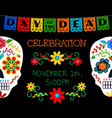 card for day of the dead vector image vector image