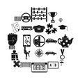 charabanc icons set simple style vector image