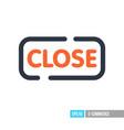 close sign icon vector image