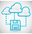 cloud data storage vector image