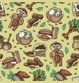 cocoa seamless pattern cartoon chocolate vector image