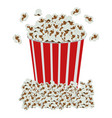 color background with popcorn container vector image vector image
