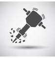 Construction jackhammer icon vector image