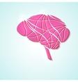 Creative brain vector image vector image