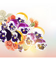cute background with bouquet of flowers vector image vector image