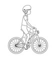 cycling man riding a bicycle vector image vector image