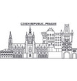 czech republic prague line skyline vector image vector image