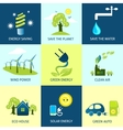 Ecology Concepts Set vector image