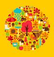 fall season concept vector image vector image