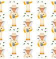 farmer beekeeper character forester man seamless vector image