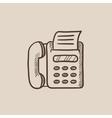 Fax machine sketch icon vector image vector image