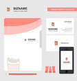 fires business logo file cover visiting card and vector image vector image
