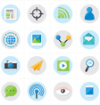 Flat Icons Communication and Web Icons vector image vector image