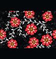 floral batik motif vector image vector image