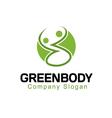 Green Body Design vector image vector image