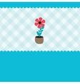 growing plant flower in pot vector image