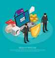 hacking isometric concept vector image