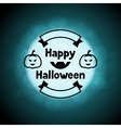 Happy halloween greeting card on background of vector image