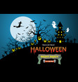 happy halloween night party holiday celebration vector image vector image
