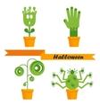 helloween strange plants vector image vector image