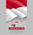 indonesian independence day vertical flyer vector image