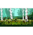 Landscape with marsh the reeds in the forest vector image vector image