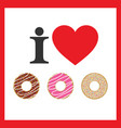 love donuts icon vector image