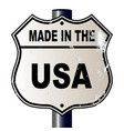 made in the usa route sign vector image
