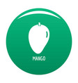 mango icon green vector image