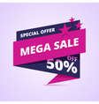 Mega sale banner special offer badge vector image vector image