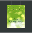 merry christmas lighting and glowing background vector image vector image
