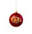 merry xmas everyone type in a christmas ball vector image vector image