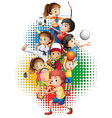 Olympics theme with many sports vector image vector image
