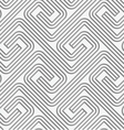Perforated striped square spirals fastened vector image vector image