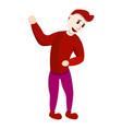 present clown icon cartoon style vector image vector image