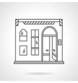 Pub facade flat line design icon vector image vector image