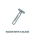 razor with a blade icon flat style icon design vector image