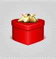 red heart shape with gift box isolated vector image